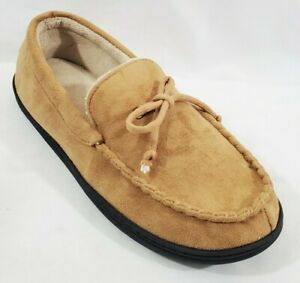 Isotoner Signature Dan Marino Collection Slippers Outdoor Soles Tan 9.5-10.5 NEW