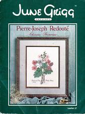 June Grigg Pierre-Joseph Redoute CHINESE PRIMROSE Leaflet 27 Cross Stitch