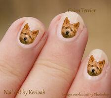 Cairn Terrier,  24 Unique Designer Dog Nail Art Stickers Decals