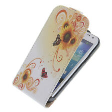 CUSTODIA CELLULARE COVER FLIP (F) . SAMSUNG GALAXY S4 MINI I9195 I9190 FARFALLA