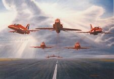 Red Arrows BAe Hawk Display Team Aircraft Plane Blank Birthday Fathers Day Card