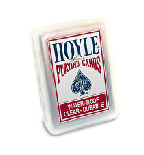 Hoyle Red Clear 100% plastic Waterproof Bicycle Deck Playing Cards durable pool