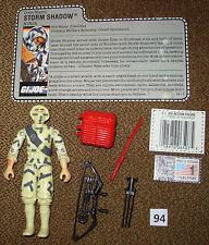 1988 STORM SHADOW Ninja GI Joe 3 3/4 inch Figure 100% Complete