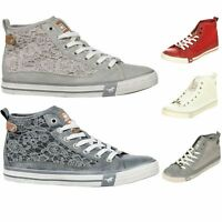 Mustang Shoes Damen High Top Sneaker Sneakers Turn Schuhe Ankle Boots 1146-507