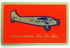 SWAP CARD. FORD TRI-MOTOR TRANSPORT PLANE (THE TIN GOOSE). AMERICAN AIRLINES USA
