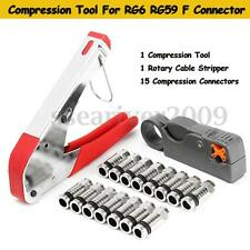 Coaxial Compression Tool for RG59 RG6 Connector Coax Crimper F Type