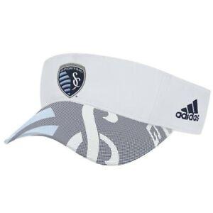 Sporting Kansas City MLS Adidas Adjustable Visor Hat, White