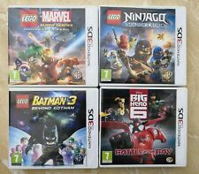 LEGO Marvel + Batman 3 + Ninjago + Big Hero 6 (Nintendo 3DS bundle games x4)
