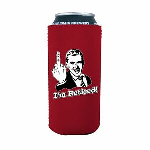 I'm Retired 16 oz. Neoprene Pint Can Coolie; retirement, party, gift, retire