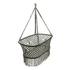 Bohemian Macrame Baby Bassinet Crib Darling Hammock Bed - Indie Grey Cotton NEW