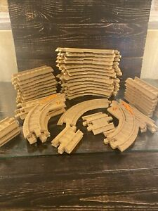 Geo Trax Fisher Price Track Lot  40+ misc tan track pieces,
