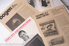 Bogen Darkroom Equipment Assorted Instruction Owners Manual Guide Book USED B18