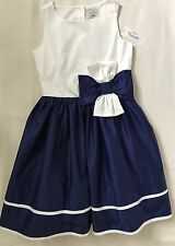 NWT Gymboree Girls Size 10 Gorgeous Blue And White Poplin Dress