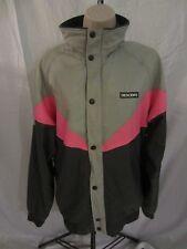 Descente Nylon Coat Jacket w/Thermal Thin Gray/Pink  Men's M  CB61G