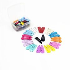 30pcs/lot Candy Color Paint Hair Snap Clip Hairpin Barrette for Women Girls Gift