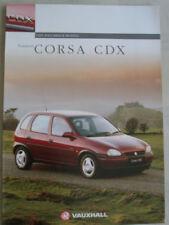 Vauxhall & Opel Corsa 1994 Car Sales Brochures 2009