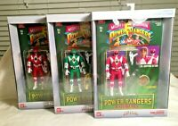 MIGHTY! Power Rangers Legacy Auto Morphin Lot -- Red, Green, and Pink!