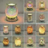 Electric Wax Melt Burner Aroma 3D Lamp Mirror Finish Pattern Touch Control GIFT