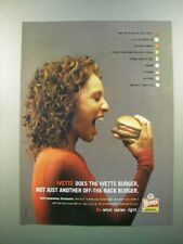 2005 Wendy's Hamburger Ad - Ivette Not off-the-rack