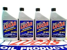 LUCAS OIL SEMI-SYNTHETIC WET CLUTCH  MOTORCYCLE OIL 10W-40  #10710 (4) QTS  USA
