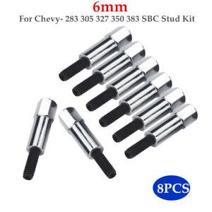 8PCS/Set Chrome Valve Cover Bolt Fit For Chevy- 283 305 327 350 383 SBC Stud