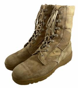 McRae Footwear Mens 12R Tan Suede Hot Weather Vented Vibram Desert Combat Boots