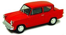 Ford Anglia Mk1 en Rojo - 1:43 Diecast Clásico 105E Coche Modelo por Cararama-Nuevo