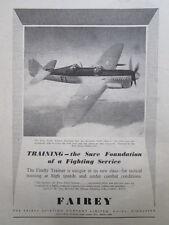 12/1946 PUB FAIREY AVIATION HAYES FIREFLY MK I TRAINER ROLLS GRIFFON ORIGINAL AD