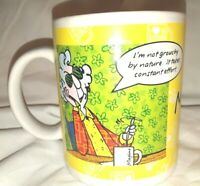 Hallmark Maxine Coffee Cup Mug I'm Not Grouchy By Nature Breakfast In Bed New
