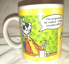 Hallmark Maxine Coffee Cup Mug I'm Not Grouchy By Nature Breakfast In Bed