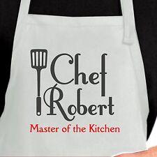 Personalized Chef Apron. Custom Chef Apron. Master of the Kitchen Apron