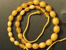 Ancien Collier 46 cm Olivettes Jaunes en Ambre?  - Vintage Yelow Amber Necklace