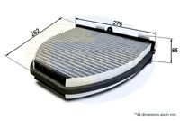 Comline Cabin Pollen Interior Air Filter Fits Mercedes IWT541