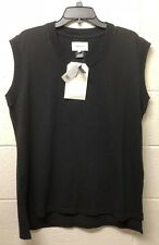 NWT 118$ CURRENT ELLIOT THE Darcy MUSCLE TEE Black Sleeveless Loose Fit *0 XS