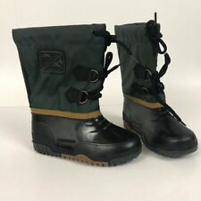 1980s Kids Rain Boots / NOS Insulated Duck Boots / Little Boys Size 11 Boots