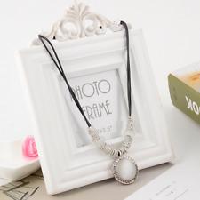 Charm Round Cat's Eye Choker Chunky Statement Bib Necklace Pendant Chain Jewelry