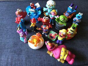 Lot of 18 Sesame Street Mixed Vintage FiguresAnd Characters