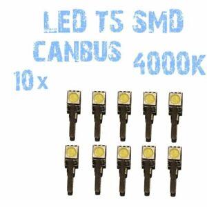 N° 10 bulbs LED T5 white 4000K SMD 5050 for headlights Angel Eyes DEPO FK 1B1US