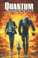 VALIANT QUANTUM AND WOODY EXPLOSION 24x36 POSTER NINTENDO VIDEO COMIC BOOK NEW!!