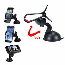4 PACK NEW BLACK UNIVERSAL CAR WINDSHIELD MOUNT HOLDER FOR iPHONE