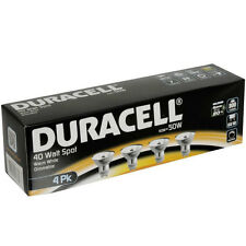 Duracell Set 4 pezzi Lampadine Alogene Dimmerabile GU10 40W luce bianco caldo