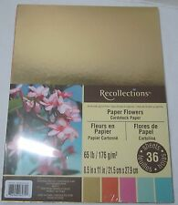 "Recollections Cardstock Paper 8 1/2"" x 11"" 36 Sheets gold bright PAPER FLOWERS"