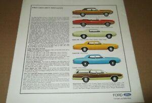 ★★1972 FORD LTD GALAXIE CUSTOM 500 WAGON ORIGINAL DEALER ADVERTISEMENT AD 72★★
