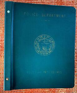 1962 New York City Police Academy Procedures Manual