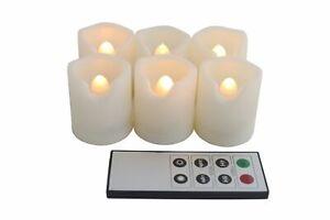 EcoGecko Indoor Outdoor Weatherproof Flameless Warm Glow Votive Candles w Remote