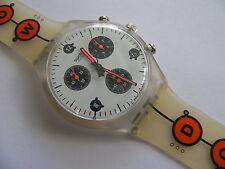 1996 Chrono Swatch Watch SLOW DOWN SCK408 New
