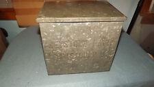Vintage Metal Keystone Dairy Milk Box ~ Metal Home Delivery Milk Box
