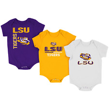 "LSU Colosseum Infant ""Ahhh"" 3 Pack One Piece Set Size 6-12   Months"