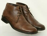 Bruno Ferrini Brown Pebbled Leather Casual Chukka Ankle Boots Men's US 11.5