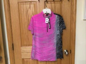 NWT Jamie Sadock  Golf Shirt Size  XL in  Rose multi Color.